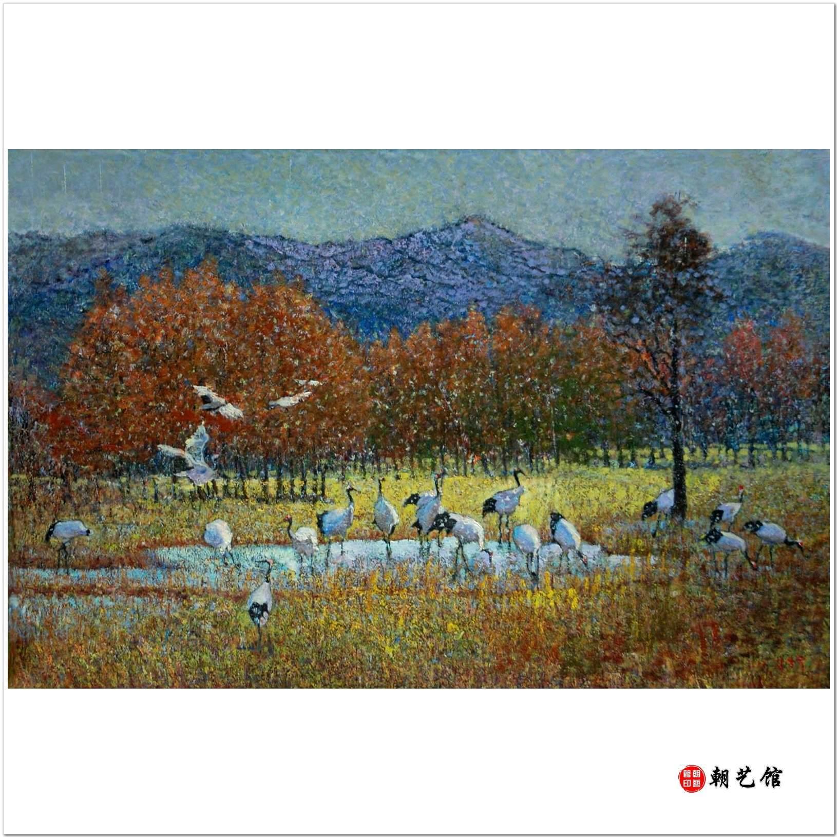 金相淑《家园》朝鲜风景油画