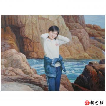 郑忠南《海边》朝鲜油画