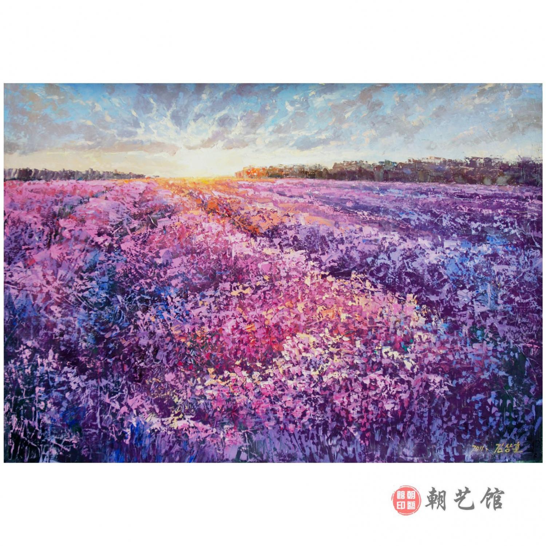 风景油画 金相勋《日出时分》朝鲜油画-ys-yk【zy预定】-ll   作品
