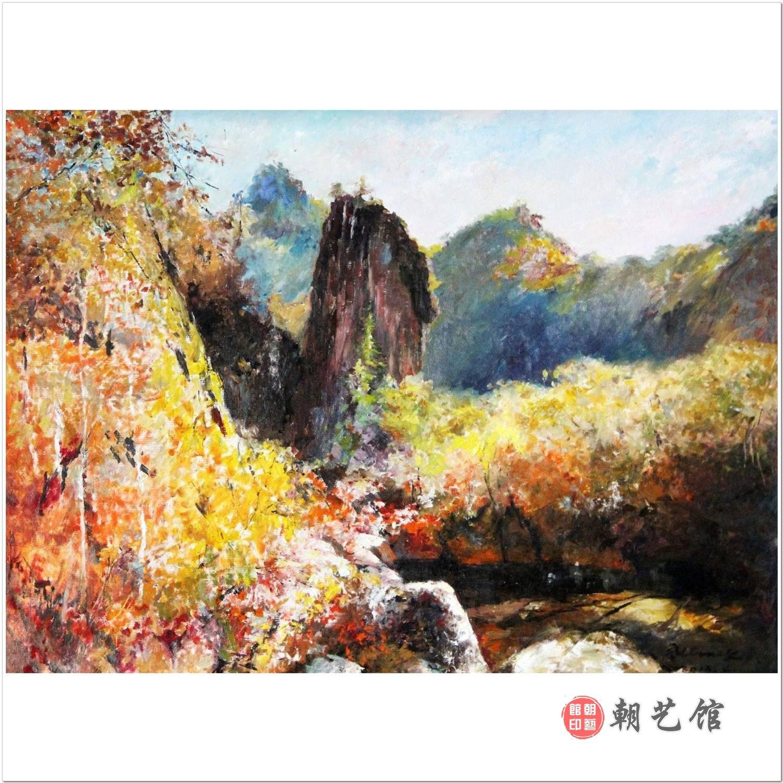 崔帝男《面镜台》朝鲜油画风景-jz
