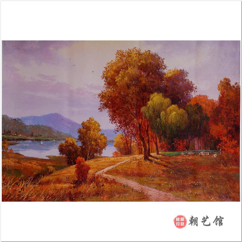 朝鲜画朝艺馆_金昌日《风景》朝鲜油画风景_风景油画